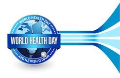 Σχέδιο απεικόνισης σφραγίδων ημέρας παγκόσμιας υγείας Στοκ εικόνες με δικαίωμα ελεύθερης χρήσης