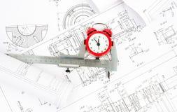 Σχέδιο αρχιτεκτονικής και ρόλοι των σχεδιαγραμμάτων Στοκ εικόνες με δικαίωμα ελεύθερης χρήσης