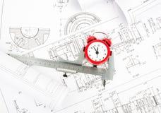 Σχέδιο αρχιτεκτονικής και ρόλοι των σχεδιαγραμμάτων Στοκ εικόνα με δικαίωμα ελεύθερης χρήσης