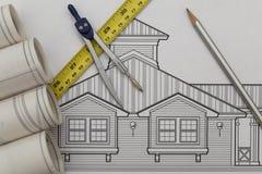 Σχέδιο αρχιτεκτονικής στοκ φωτογραφία με δικαίωμα ελεύθερης χρήσης