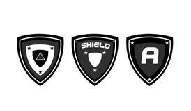 Σχέδιο ασπίδων λογότυπων Στοκ Εικόνα