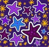 Σχέδιο αστεριών διασκέδασης χρώματος Στοκ Εικόνες