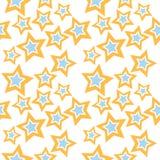 Σχέδιο αστεριών στα μπλε και πορτοκαλιά χρώματα Στοκ εικόνα με δικαίωμα ελεύθερης χρήσης