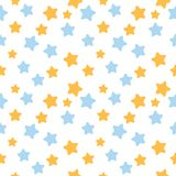 Σχέδιο αστεριών στα μπλε και πορτοκαλιά χρώματα Στοκ εικόνες με δικαίωμα ελεύθερης χρήσης