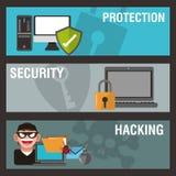 Σχέδιο ασφάλειας Cyber Στοκ Εικόνα
