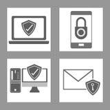 Σχέδιο ασφάλειας Cyber Στοκ Φωτογραφία