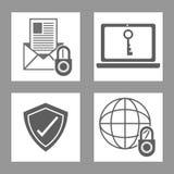 Σχέδιο ασφάλειας Cyber Στοκ Φωτογραφίες