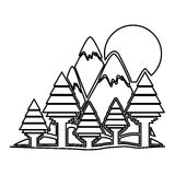 σχέδιο δασών και βουνών Στοκ Φωτογραφία