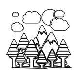σχέδιο δασών και βουνών Στοκ φωτογραφίες με δικαίωμα ελεύθερης χρήσης