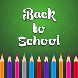 Σχέδιο αφισών, εμβλημάτων ή ιπτάμενων για πίσω στο σχολείο Στοκ Εικόνα