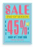 Σχέδιο αφισών, εμβλημάτων ή ιπτάμενων για την πώληση Στοκ Εικόνα