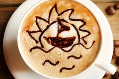 Σχέδιο αφρού καφέ σιταριών cappuccino φλιτζανιών του καφέ στοκ εικόνες με δικαίωμα ελεύθερης χρήσης