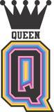 Σχέδιο βασίλισσας Vector clipart Στοκ Εικόνες