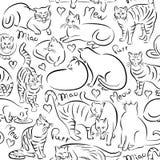 Σχέδιο γατών Στοκ εικόνα με δικαίωμα ελεύθερης χρήσης