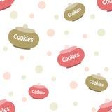 Σχέδιο για τα μπισκότα τυπωμένων υλών Στοκ εικόνα με δικαίωμα ελεύθερης χρήσης