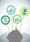 Σχέδιο για τα οβελίδια Στοκ εικόνα με δικαίωμα ελεύθερης χρήσης
