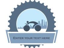 Σχέδιο για τους ποδηλάτες πόλεων Στοκ Εικόνα