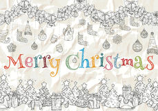 Σχέδιο για το νέα έτος και τα Χριστούγεννα Στοκ εικόνες με δικαίωμα ελεύθερης χρήσης