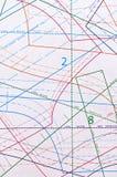 Σχέδιο για το ράψιμο Ο πίσω καυστήρας Στοκ φωτογραφία με δικαίωμα ελεύθερης χρήσης