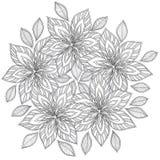 Σχέδιο για το χρωματισμό του βιβλίου Εθνικός, floral, αναδρομικός, doodle, διανυσματικό, φυλετικό στοιχείο σχεδίου διανυσματική απεικόνιση
