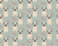Σχέδιο γιόγκας περισυλλογής μαλαγμένων πηλών χαριτωμένα σκυλιά Στοκ Εικόνες