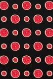 Σχέδιο γκρέιπφρουτ που απομονώνεται στο μαύρο υπόβαθρο Επίπεδος βάλτε Στοκ Εικόνα