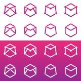 Σχέδιο γραμμάτων Μ λογότυπων Στοκ εικόνα με δικαίωμα ελεύθερης χρήσης