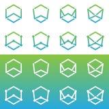 Σχέδιο γραμμάτων W λογότυπων Στοκ Εικόνες