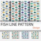 Σχέδιο γραμμών ψαριών Στοκ εικόνες με δικαίωμα ελεύθερης χρήσης