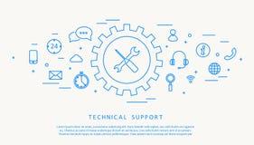 Σχέδιο γραμμών thine τεχνικής υποστήριξης Στοκ εικόνα με δικαίωμα ελεύθερης χρήσης