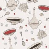 Σχέδιο γλυκών Teatime Στοκ φωτογραφία με δικαίωμα ελεύθερης χρήσης