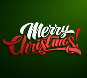 Σχέδιο εγγραφής επιγραφής Χαρούμενα Χριστούγεννας Στοκ εικόνα με δικαίωμα ελεύθερης χρήσης