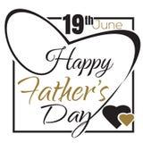 Σχέδιο εγγραφής ημέρας του ευτυχούς πατέρα Στοκ φωτογραφία με δικαίωμα ελεύθερης χρήσης