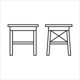 Σχέδιο εγχώριων επίπλων εδρών lineart, εσωτερική έννοια Στοκ φωτογραφία με δικαίωμα ελεύθερης χρήσης