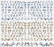 Σχέδιο εικονιδίων αθλητικών συμβόλων εικονογραμμάτων Στοκ Εικόνες