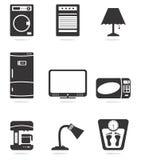 Εικονίδια εγχώριων συσκευών απεικόνιση αποθεμάτων
