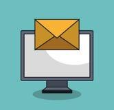 σχέδιο εικονιδίων ηλεκτρονικού ταχυδρομείου Στοκ εικόνες με δικαίωμα ελεύθερης χρήσης