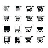 Σχέδιο εικονιδίων κάρρων αγορών Στοκ εικόνες με δικαίωμα ελεύθερης χρήσης