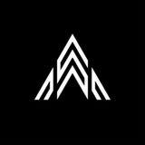 Σχέδιο εικονιδίων λογότυπων γραμμάτων Α Στοκ φωτογραφίες με δικαίωμα ελεύθερης χρήσης