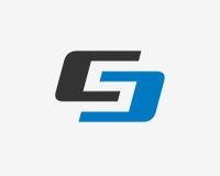 Σχέδιο εικονιδίων λογότυπων γραμμάτων S Στοκ Εικόνες