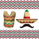 Σχέδιο εικονιδίων του Μεξικού Στοκ φωτογραφία με δικαίωμα ελεύθερης χρήσης