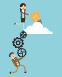 Σχέδιο εικονιδίων Businesspeople Στοκ φωτογραφία με δικαίωμα ελεύθερης χρήσης