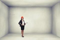 Σχέδιο εκμετάλλευσης αρχιτεκτόνων γυναικών Στοκ φωτογραφία με δικαίωμα ελεύθερης χρήσης