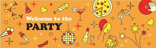 Σχέδιο εμβλημάτων ή προτύπων για το μουσικό εορτασμό κόμματος Στοκ Εικόνες