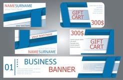 Σχέδιο εμβλημάτων προτύπων, κάρτες δώρων, επαγγελματικές κάρτες Σύνολο Στοκ φωτογραφίες με δικαίωμα ελεύθερης χρήσης