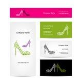 Σχέδιο επαγγελματικών καρτών, περίκομψα θηλυκά παπούτσια ελεύθερη απεικόνιση δικαιώματος