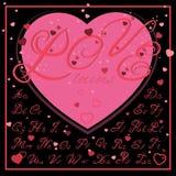 Σχέδιο επιστολών αγάπης Στοκ Φωτογραφία