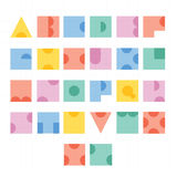Σχέδιο επιστολών αλφάβητου πηγών Στοκ εικόνες με δικαίωμα ελεύθερης χρήσης