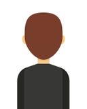 σχέδιο επιχειρησιακών απομονωμένο άτομο εικονιδίων Στοκ Εικόνα