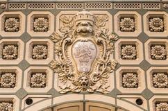 Σχέδιο λεπτομέρειας του ανώτατου ορίου, κιβώτιο υπό μορφή λουλουδιού, το μουσείο Orsay Orsay σταθμών τρένου Παρίσι Γαλλία Στοκ Φωτογραφίες